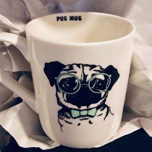 Mug Winifred and Lily Pug Mug NWT White With Black